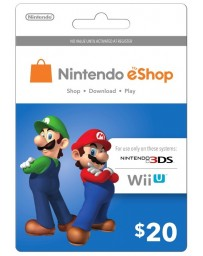 Tarjeta Nintendo E-Shop $20 [Codigo Digital]
