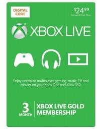 Xbox Live Gold 3 meses [Codigo Digital]